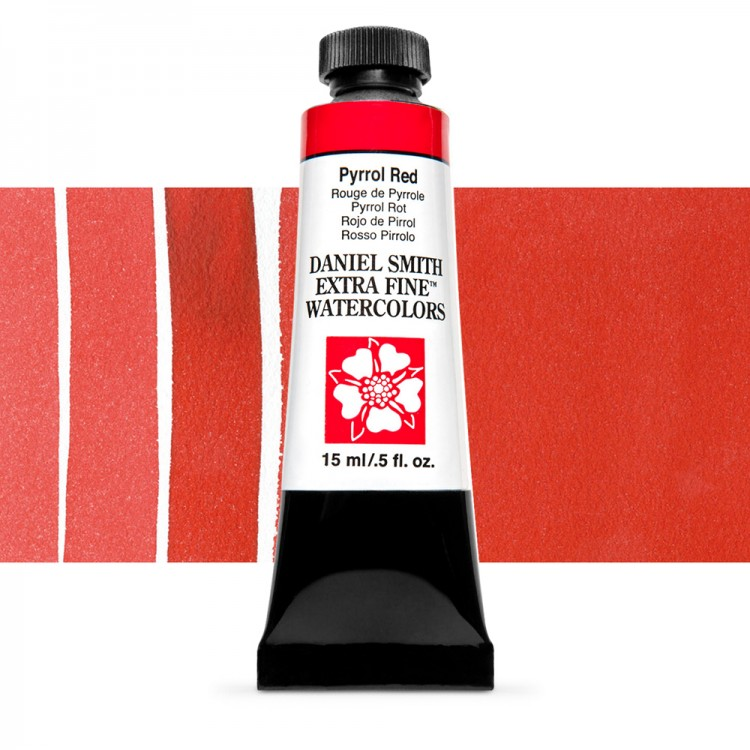 Daniel Smith : Watercolour Paint : 15ml : Pyrrol Red : Series 3