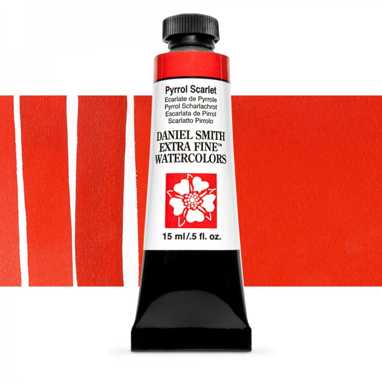 Daniel Smith : Watercolour Paint : 15ml : Pyrrol Scarlet : Series 3