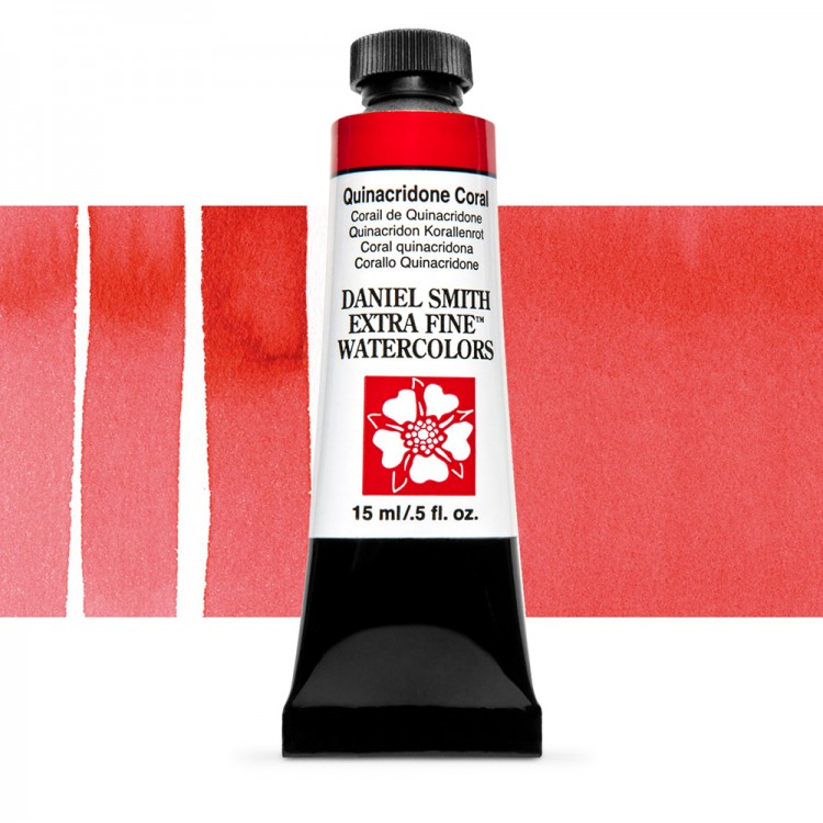 Daniel Smith : Watercolour Paint : 15ml : Quinacridone Coral : Series 2