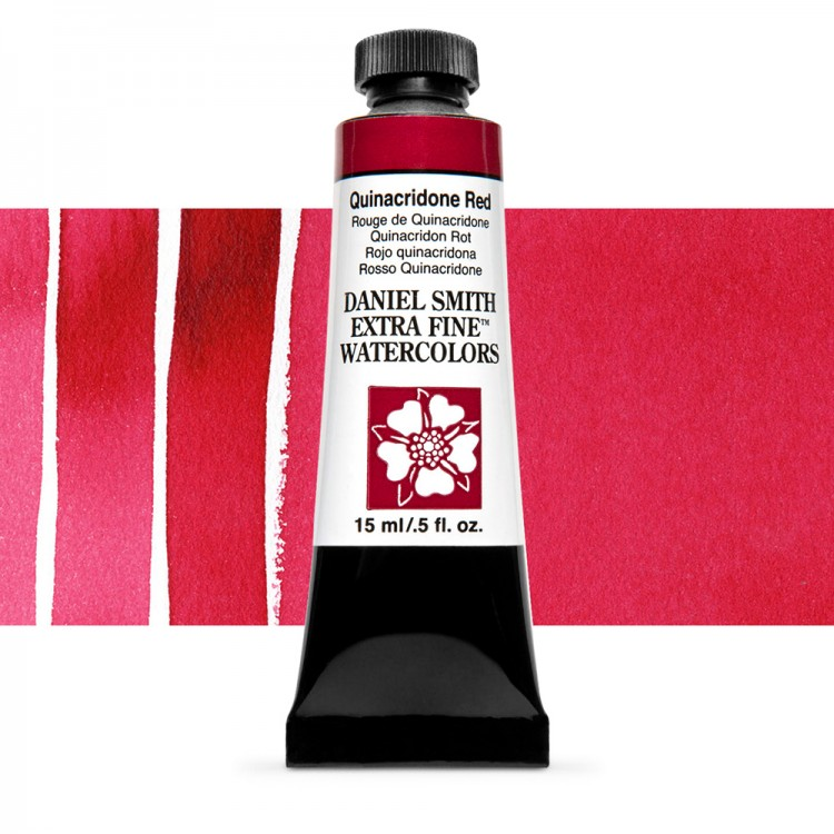 Daniel Smith : Watercolour Paint : 15ml : Quinacridone Red : Series 2