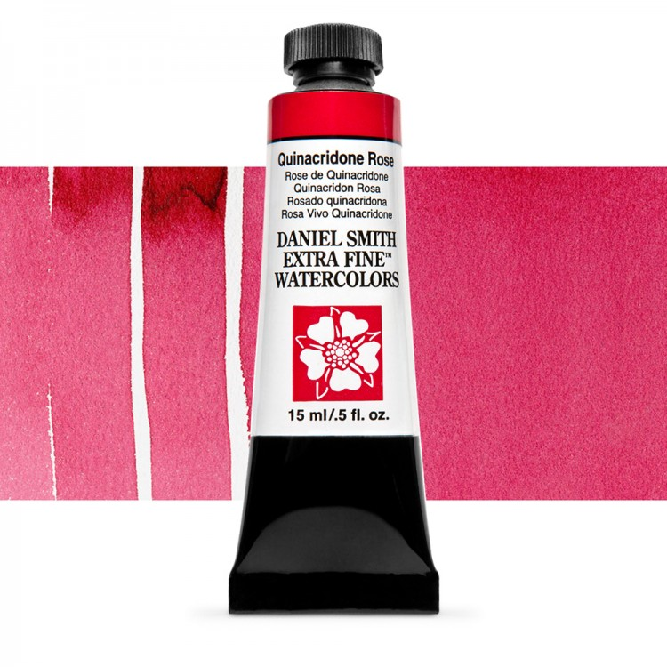 Daniel Smith : Watercolour Paint : 15ml : Quinacridone Rose : Series 2
