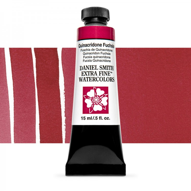 Daniel Smith : Watercolour Paint : 15ml : Quinacridone Fuchsia : Series 2
