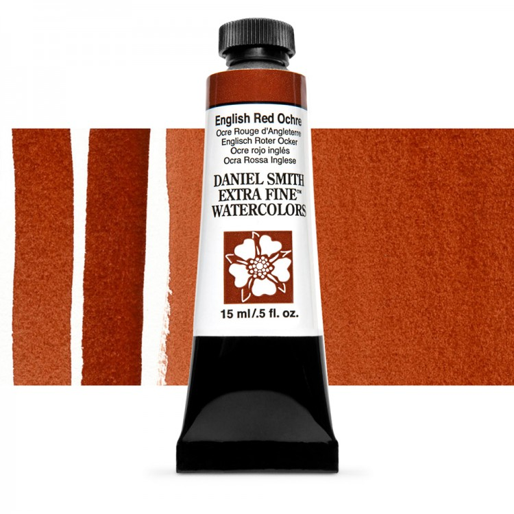 Daniel Smith : Watercolour Paint : 15ml : English Red Ochre : Series 1