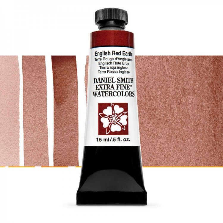 Daniel Smith : Watercolour Paint : 15ml : English Red Earth : Series 1