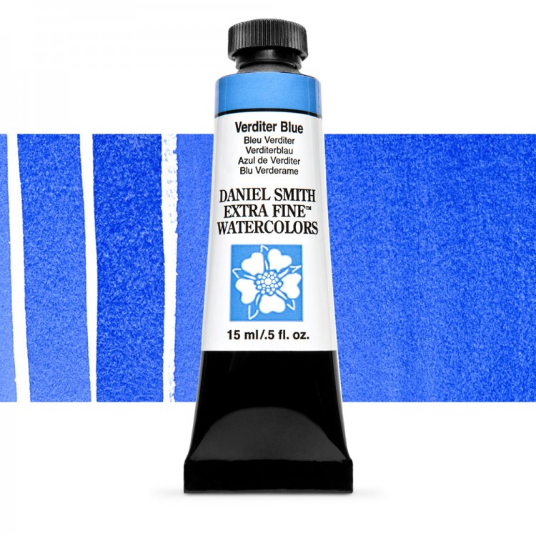 Daniel Smith : Watercolour Paint : 15ml : Verditer Blue : Series 2