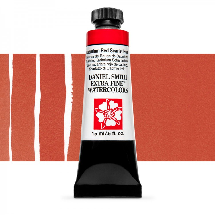 Daniel Smith : Watercolour Paint : 15ml : Cadmium Red Scarlet Hue : Series 3