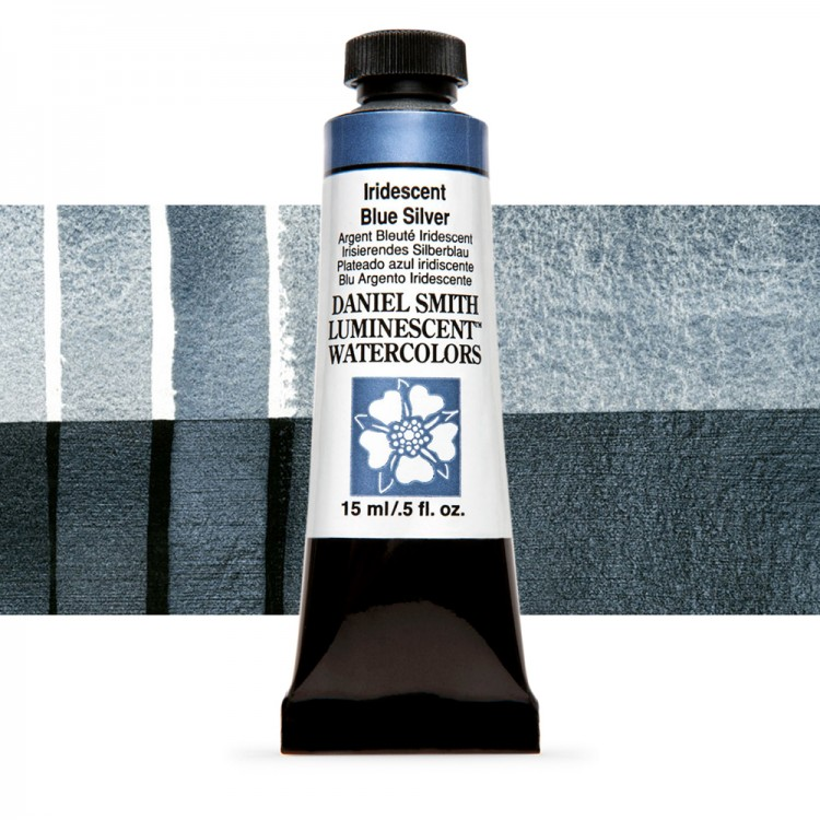 Daniel Smith : Watercolour Paint : 15ml : Iridescent Blue-Silver : u Series 1
