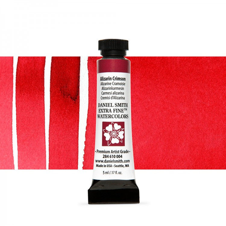 Daniel Smith : Watercolour Paint : 5ml : Alizarin Crimson