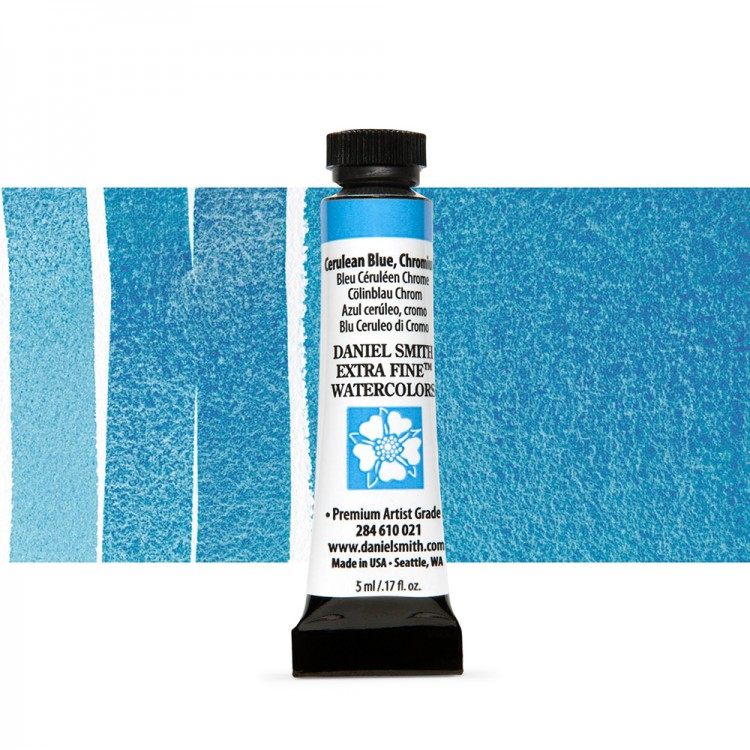 Daniel Smith : Watercolour Paint : 5ml : Cerulean Blue, Chromium