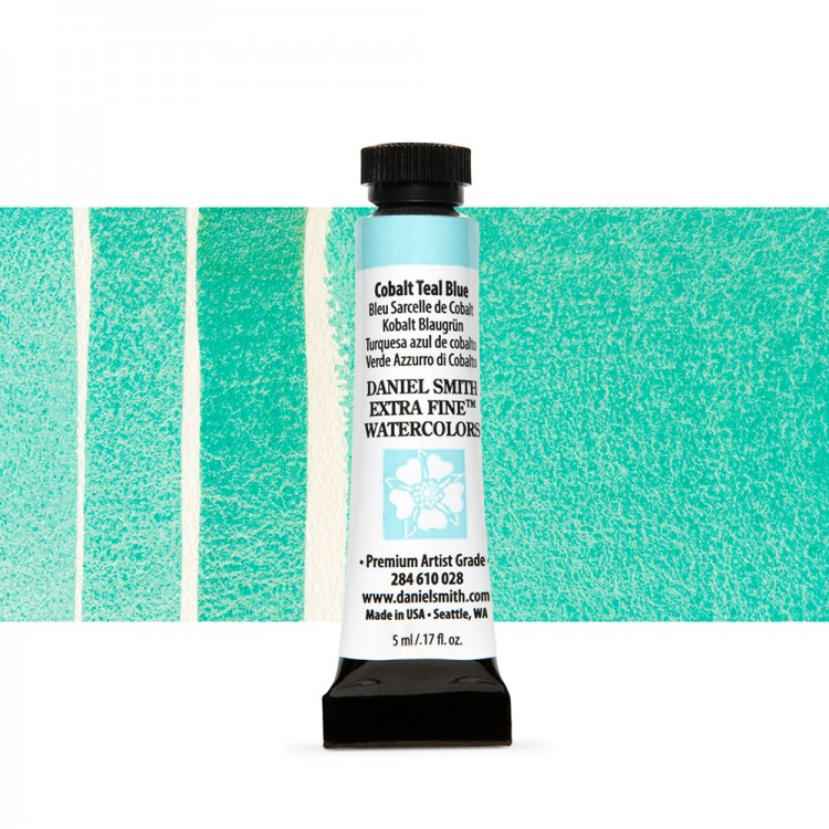 Daniel Smith : Watercolour Paint : 5ml : Cobalt Teal Blue