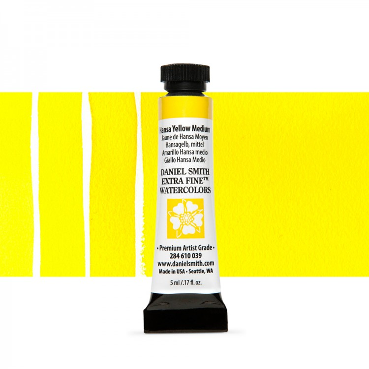 Daniel Smith : Watercolour Paint : 5ml : Hansa Yellow Medium
