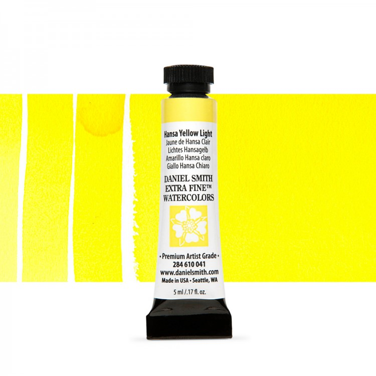 Daniel Smith : Watercolour Paint : 5ml : Hansa Yellow Light