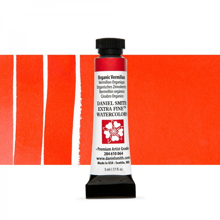 Daniel Smith : Watercolour Paint : 5ml : Organic Vermilion