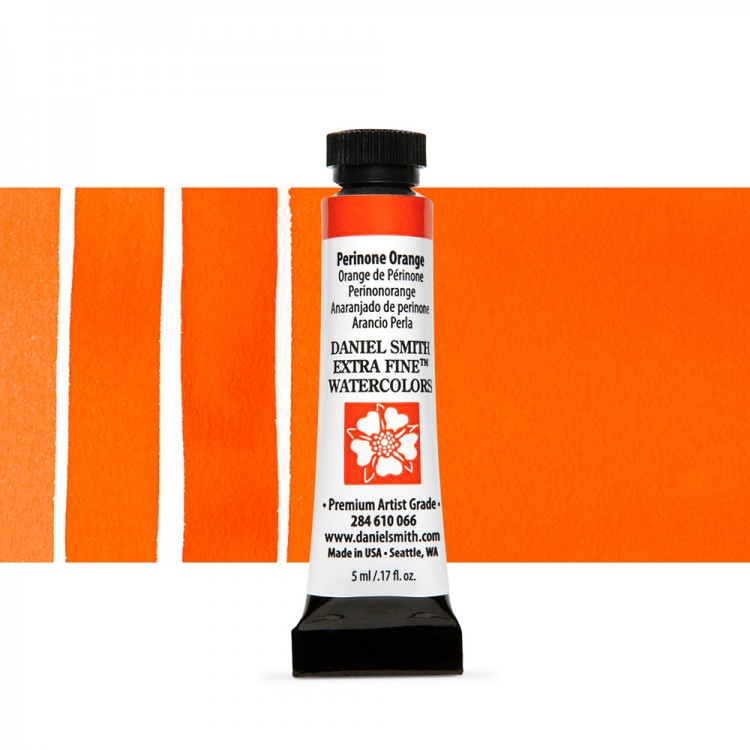 Daniel Smith : Watercolour Paint : 5ml : Perinone Orange