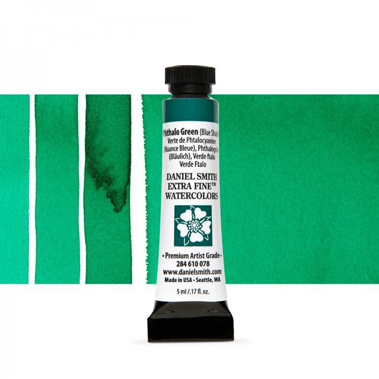 Daniel Smith : Watercolour Paint : 5ml : Phthalo Green (Blue Shade)