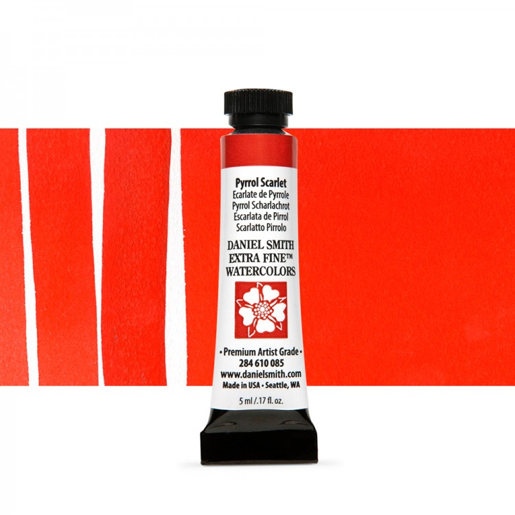 Daniel Smith : Watercolour Paint : 5ml : Pyrrol Scarlet