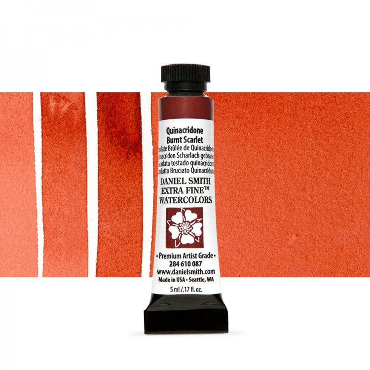 Daniel Smith : Watercolour Paint : 5ml : Quinacridone Burnt Scarlet