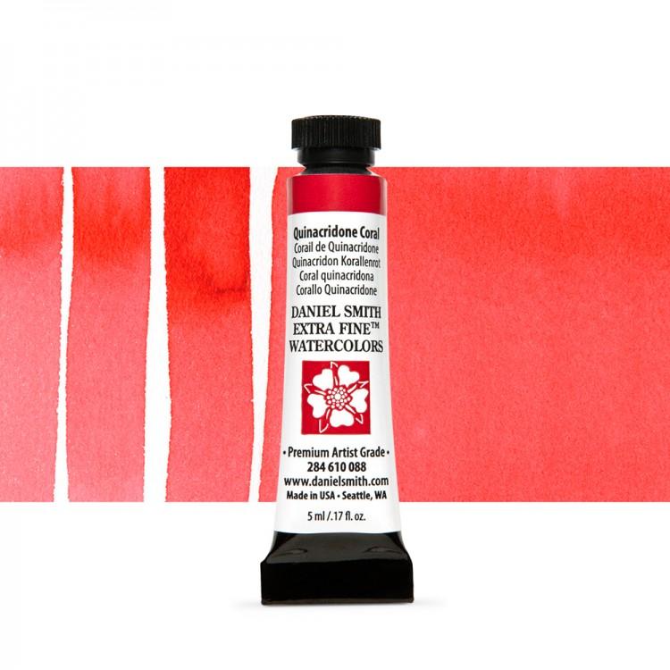 Daniel Smith : Watercolour Paint : 5ml : Quinacridone Coral