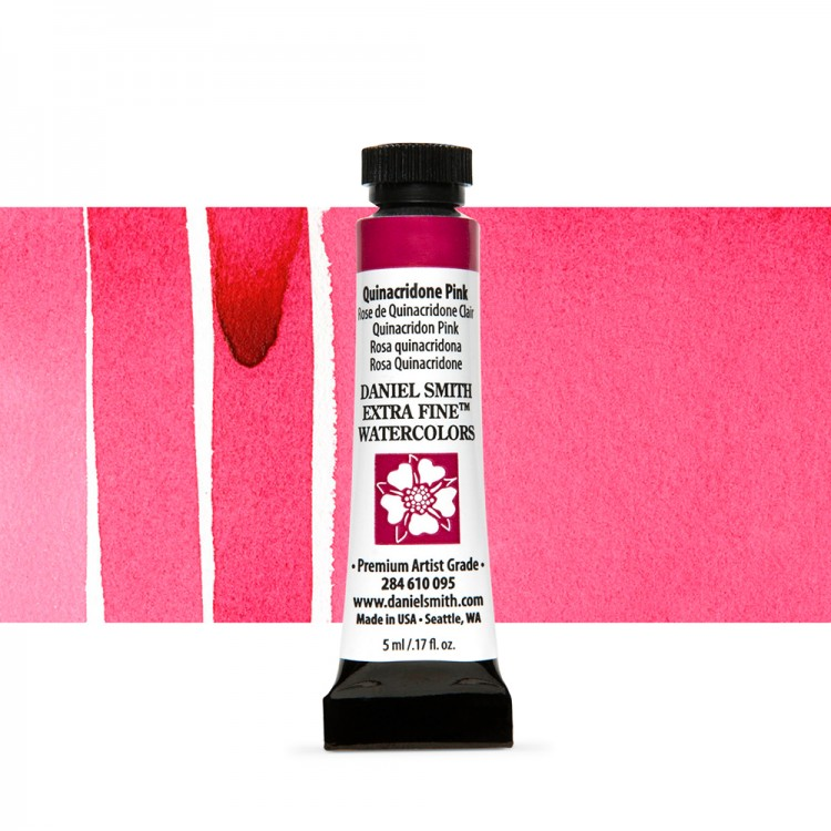 Daniel Smith : Watercolour Paint : 5ml : Quinacridone Pink