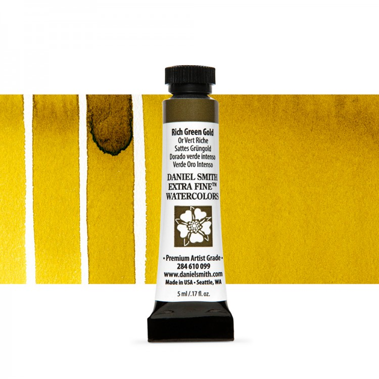 Daniel Smith : Watercolour Paint : 5ml : Rich Green Gold