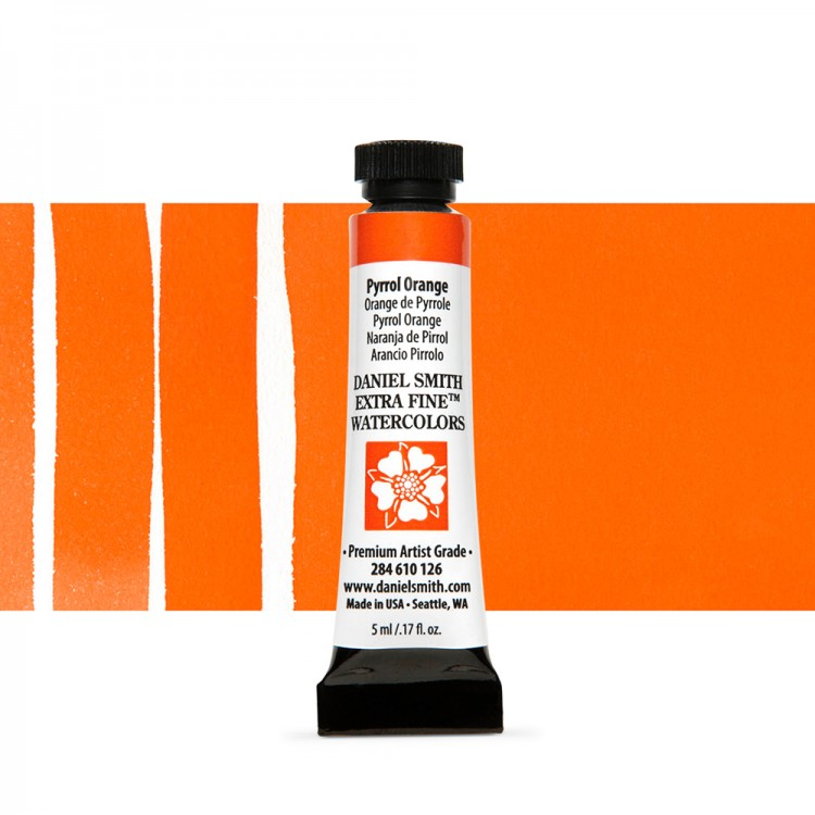 Daniel Smith : Watercolour Paint : 5ml : Pyrrol Orange