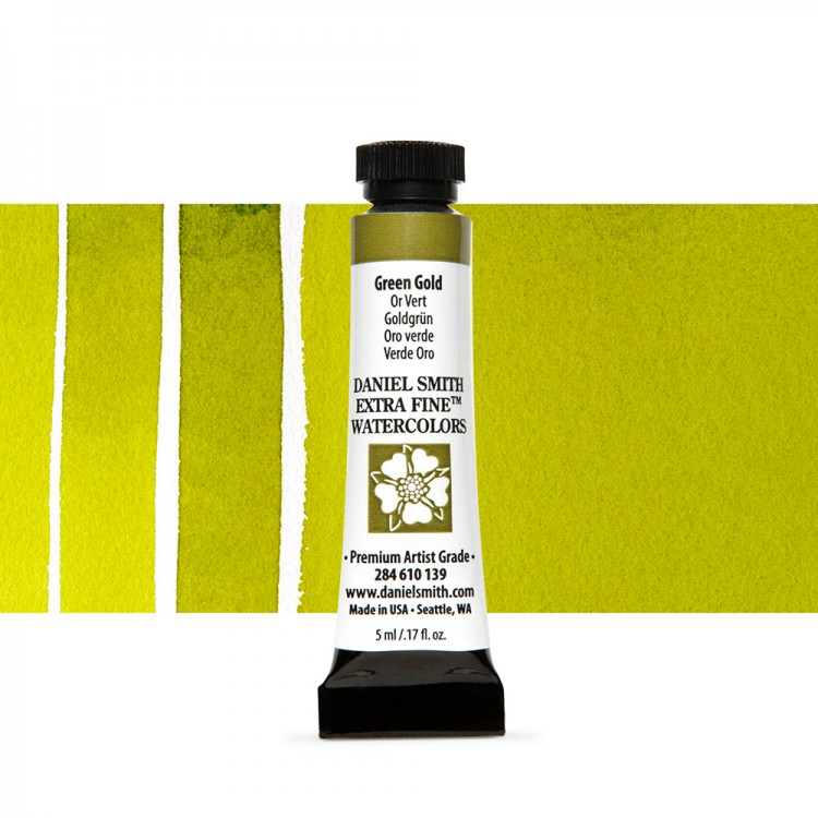 Daniel Smith : Watercolour Paint : 5ml : Green Gold