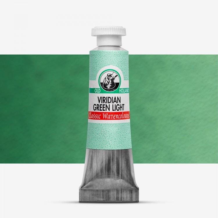Old Holland : Watercolour Paint : 6ml : Viridian Green Light