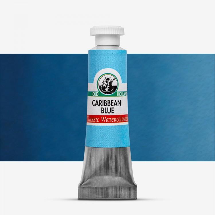 Old Holland : Watercolour Paint : 6ml : Carribean Blue