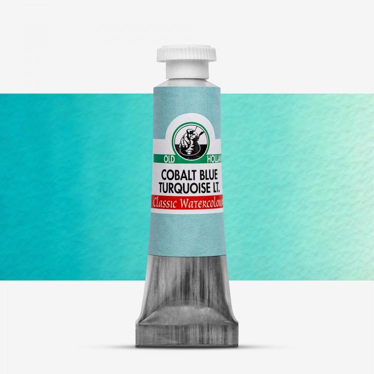 Old Holland : Watercolour Paint : 6ml : Cobalt Blue Turquiose Light