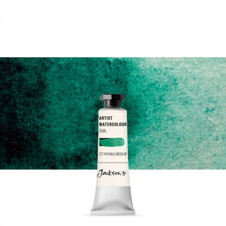 Jackson's : Artist Watercolour Paint : 10ml : Phthalocyanine Green Deep