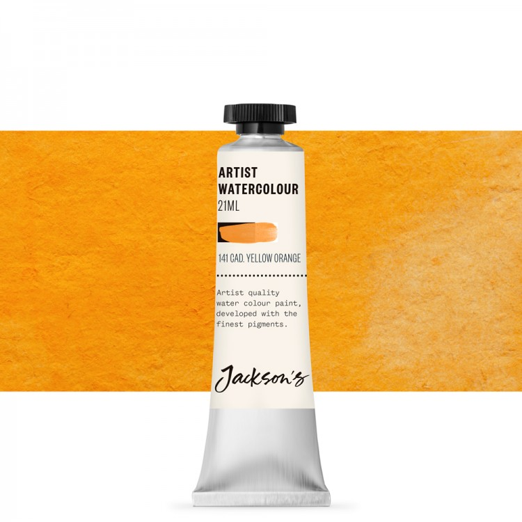 Jackson's : Artist Watercolour Paint : 21ml : Cadmium Yellow Orange