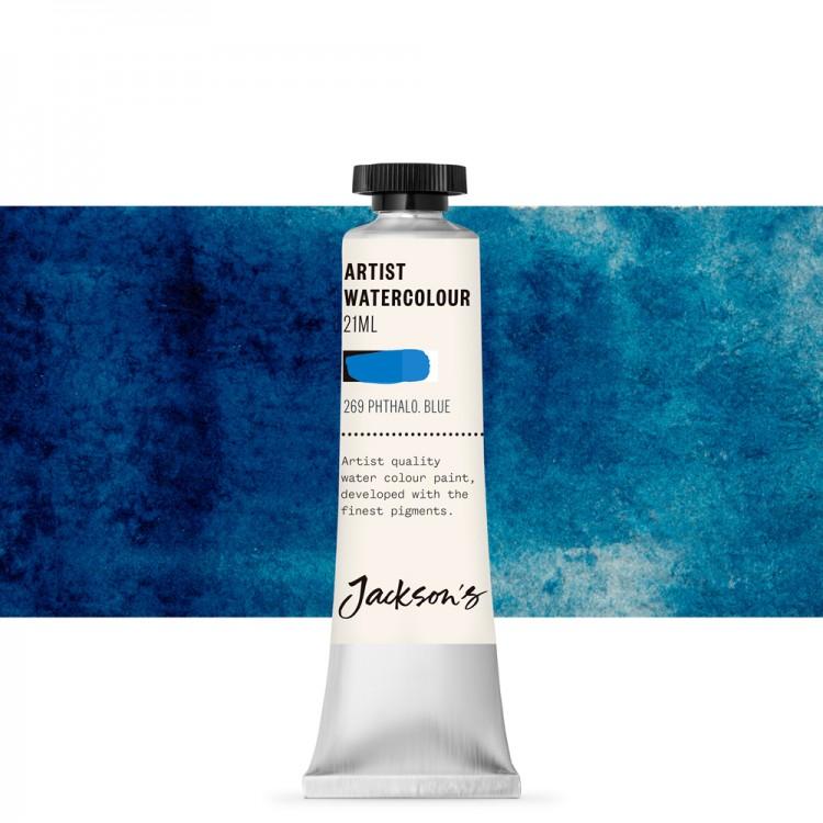 Jackson's : Artist Watercolour Paint : 21ml : Phthalocyanine Blue