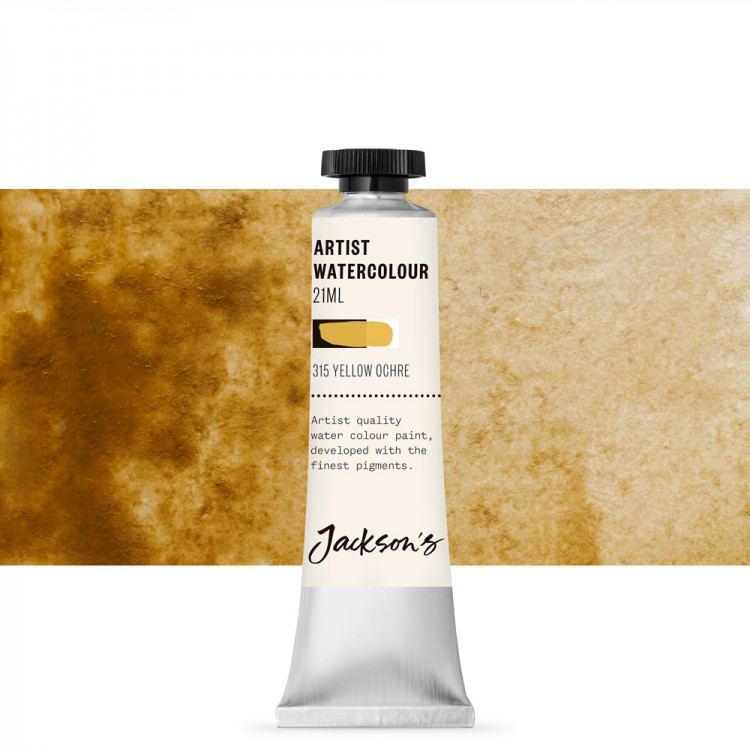Jackson's : Artist Watercolour Paint : 21ml : Yellow Ochre