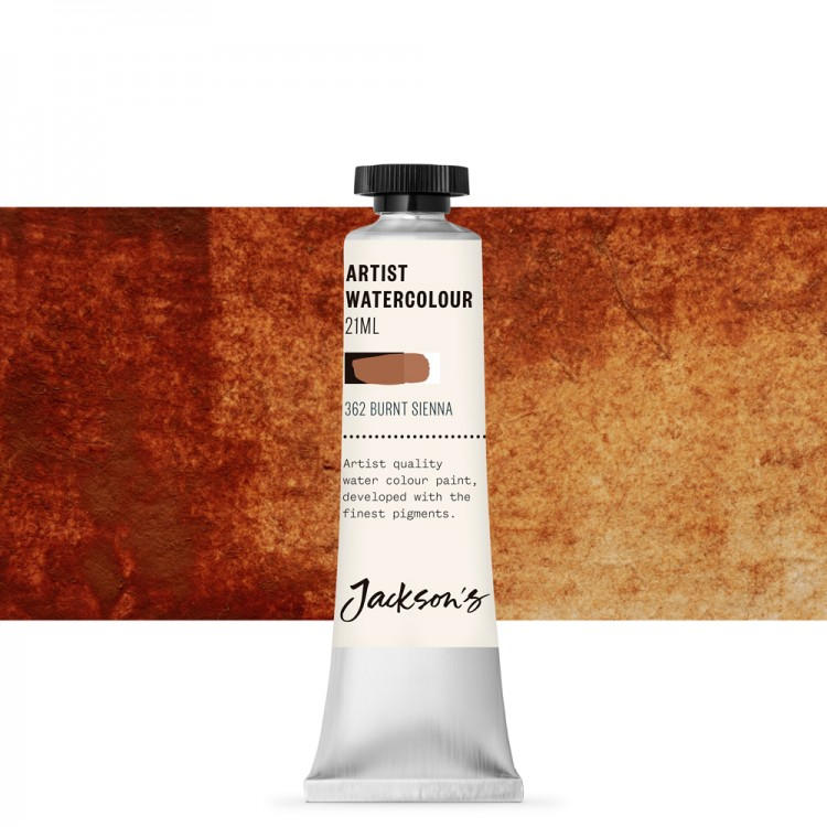 Jackson's : Artist Watercolour Paint : 21ml : Burnt Sienna
