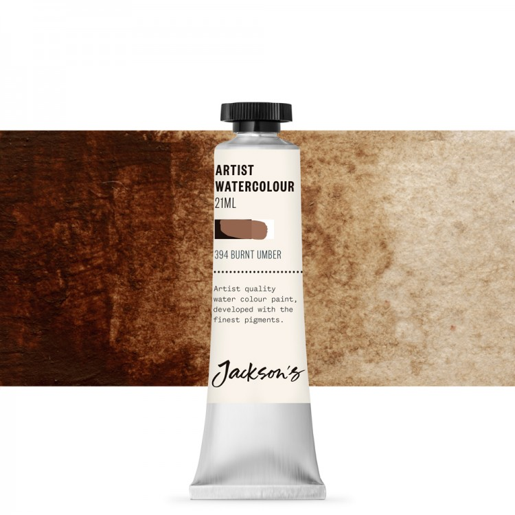 Jackson's : Artist Watercolour Paint : 21ml : Burnt Umber
