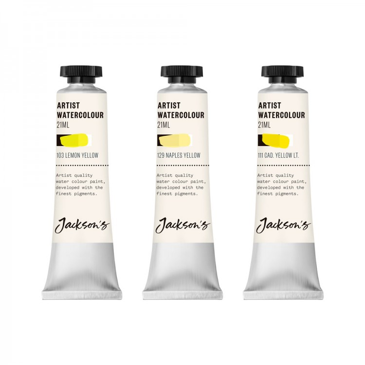 Jackson's : Artist Watercolour Paint : Yellow Set 1 : 21ml : Set Of 3