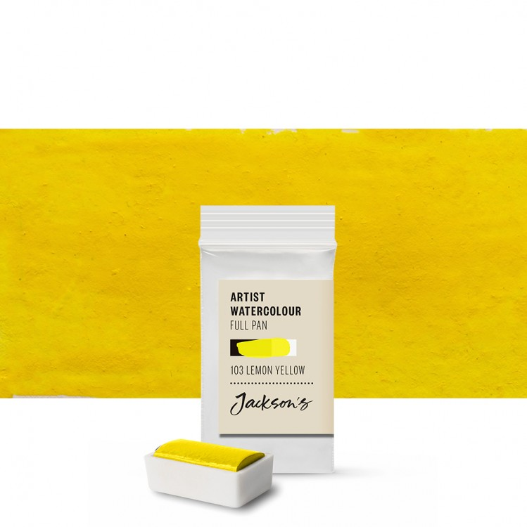 Jackson's : Artist Watercolour Paint : Full Pan : Lemon Yellow