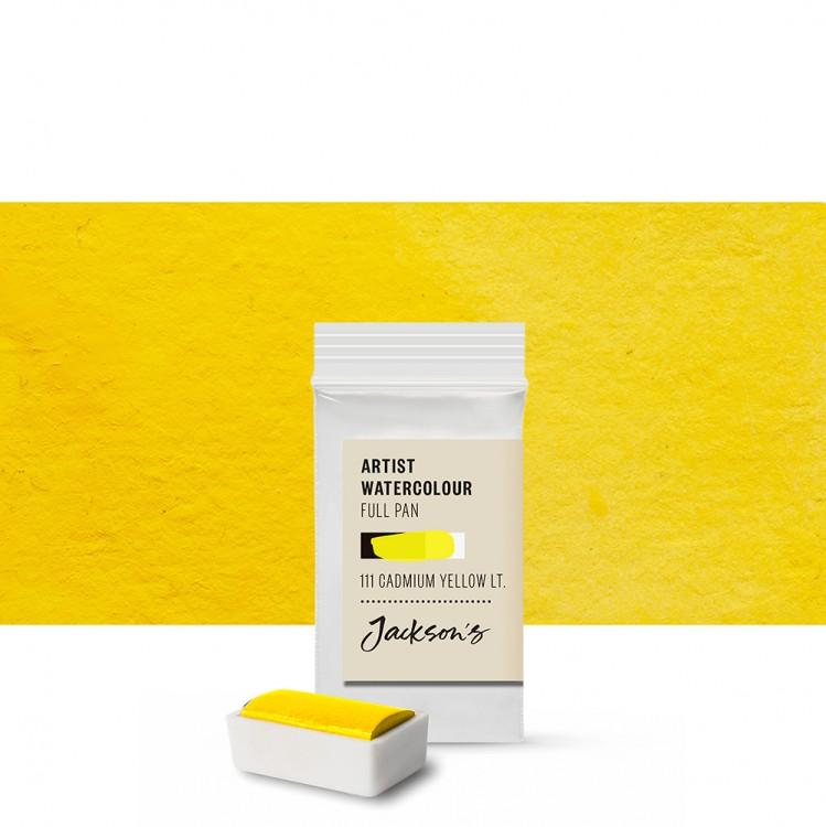 Jackson's : Artist Watercolour Paint : Full Pan : Cadmium Yellow Light