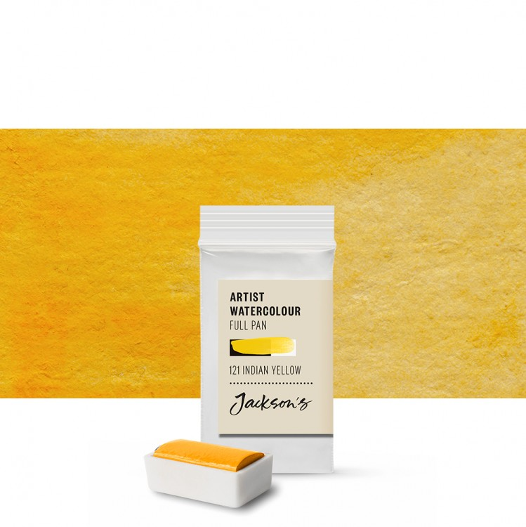 Jackson's : Artist Watercolour Paint : Full Pan :Indian Yellow