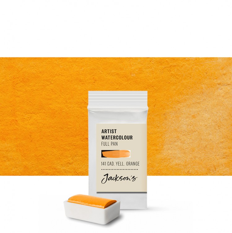 Jackson's : Artist Watercolour Paint : Full Pan : Cadmium Yellow Orange