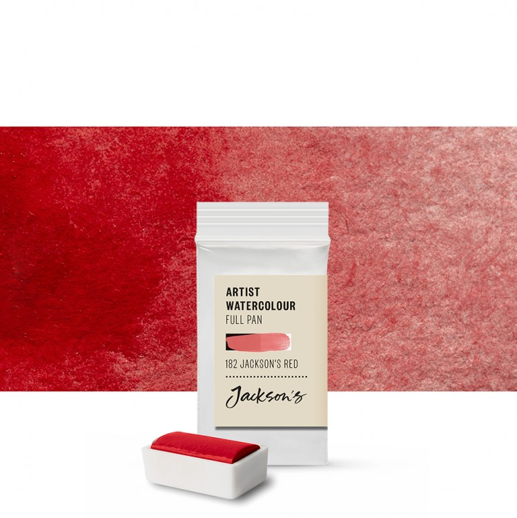 Jackson's : Artist Watercolour Paint : Full Pan : Jackson's Red