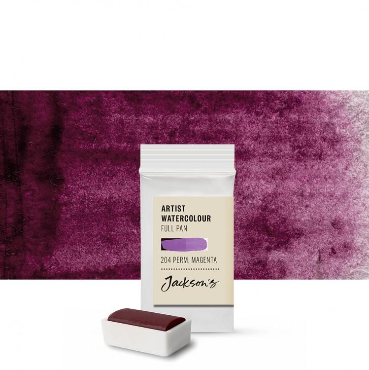Jackson's : Artist Watercolour Paint : Full Pan : Permanent Magenta
