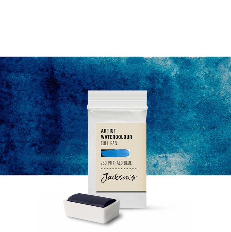 Jackson's : Artist Watercolour Paint : Full Pan : Phthalocyanine Blue