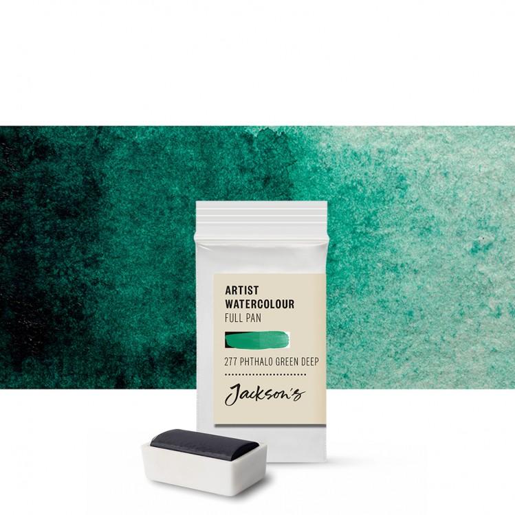 Jackson's : Artist Watercolour Paint : Full Pan : Phthalocyanine Green Deep