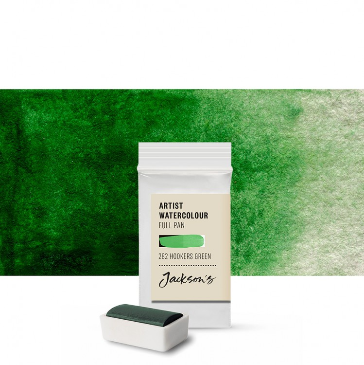 Jackson's : Artist Watercolour Paint : Full Pan : Hookers Green