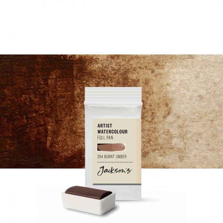 Jackson's : Artist Watercolour Paint : Full Pan : Burnt Umber