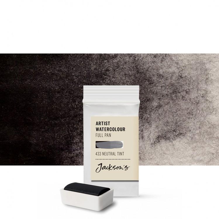 Jackson's : Artist Watercolour Paint : Full Pan : Neutral Tint