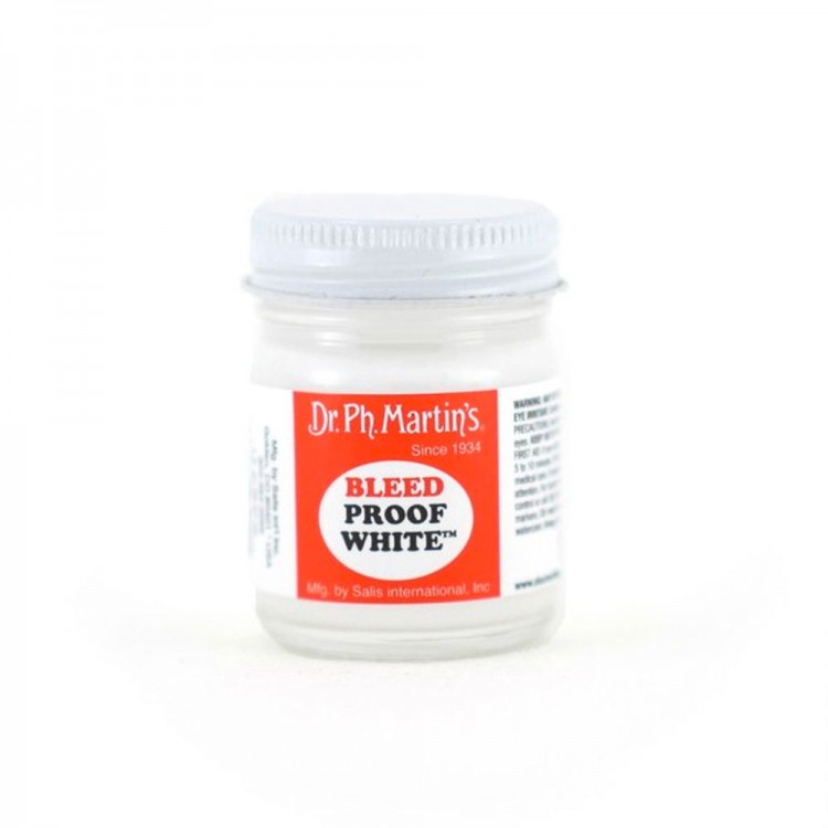 Dr. Ph. Martin's : Bleed Proof White : 1fl. Oz (29.57ml)