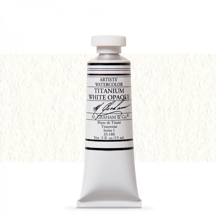 M. Graham : Artists' Watercolour Paint : 15ml : Titanium White Opaque