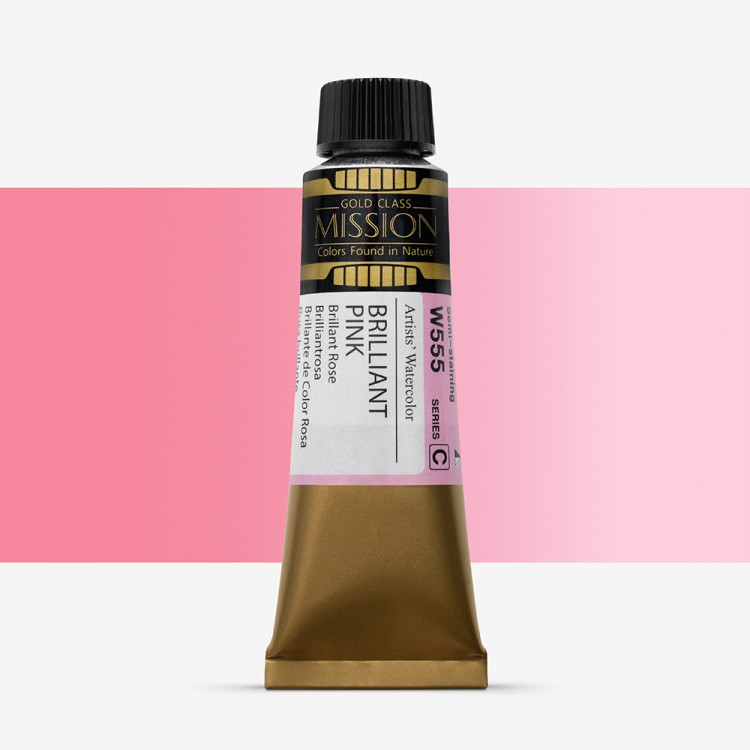 Mijello : Mission Gold : Watercolour Paint : 15ml : Brilliant Pink